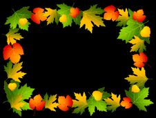 Free Autumnal Seamless Background With Leaves. Stock Photography - 16429082