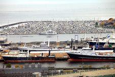 Packed Marina & Fishing Vessels, Seattle WA. Stock Photography