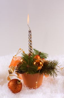 Christmas Silver Candles Royalty Free Stock Image