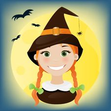 Free Little Witch Portrait Stock Photography - 16429142