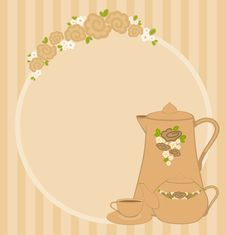 Free Cups And Tea-pot Stock Photography - 16429262