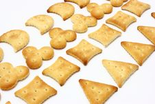 Free Salted Crackers Royalty Free Stock Photo - 16429335