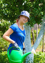 Free Woman Working In The Garden Stock Photography - 16433202