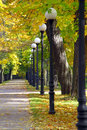 Free Autumn Alley Stock Photography - 16436632