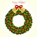 Free Christmas Wreath With Bells Royalty Free Stock Photos - 16437478