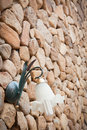 Free Wall Lamp On Stone Wall Royalty Free Stock Photo - 16438605
