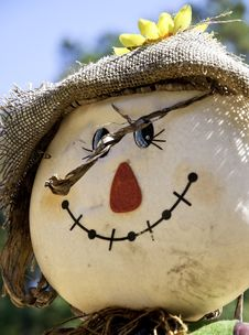 Free Colorful Scarecrow Royalty Free Stock Photo - 16430045