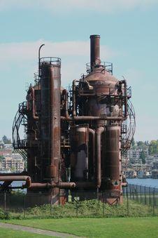 Gasworks Park At Seattle Washington Stock Photography
