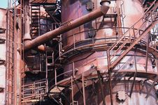 Free Old Industrial Gasworks Royalty Free Stock Images - 16430129