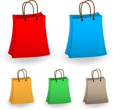 Free Shopping Bags Stock Images - 16430134