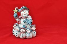 Snowpeople Stock Photography