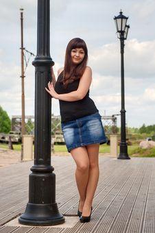 Free Beautiful Girl On Lantern. Royalty Free Stock Image - 16430596