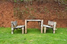 Free Chair Made From Bamboo Royalty Free Stock Photography - 16431147