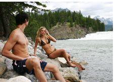 Couple In Swim Suits Stock Photos