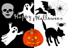 Halloween Set Icons. Vector. Stock Photography