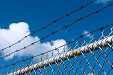 Free Barbed Wire And Fence Stock Photos - 16431663