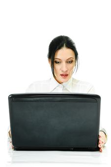 Free Lady With Laptop Royalty Free Stock Image - 16431876