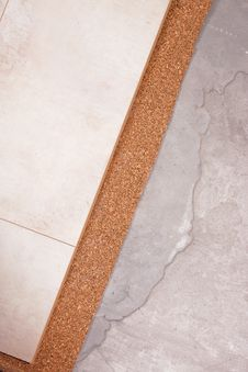 Free Coating Of The Laminate And Cork Stock Photography - 16432242