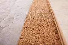 Free Coating Of The Laminate And Cork Royalty Free Stock Image - 16432256