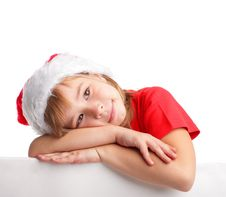 Free Little Girl In Christmas Hat Stock Photos - 16432423