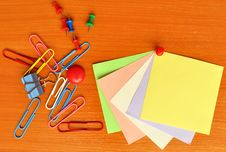 Free Colored Office Accessories Royalty Free Stock Photography - 16432617