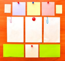 Colored Note Papers Stock Photography