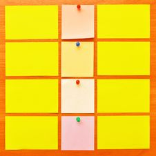 Colored Note Papers Stock Photo