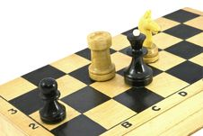Chess Pieces On The Board. Royalty Free Stock Images