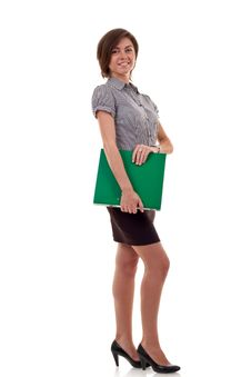 Free Woman Holding A Folder Royalty Free Stock Photography - 16433167