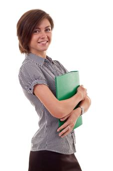 Free Woman With Folder Royalty Free Stock Images - 16433169