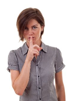 Free Woman Making Silence Sign Royalty Free Stock Photo - 16433185