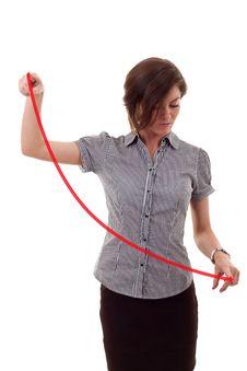 Free Woman Drawing A Graph Stock Photo - 16433190