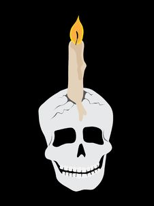 Free Skull Candle Royalty Free Stock Image - 16433546