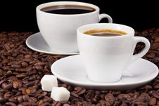Free Cup Of Coffee And Beans Royalty Free Stock Photography - 16433757