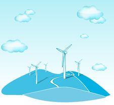 Free Wind Turbines Stock Photos - 16434883