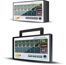 Heartbeat Monitor System Royalty Free Stock Image