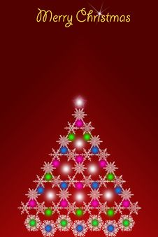 Free Abstract Christmas Tree Royalty Free Stock Photos - 16435178