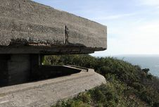 German Observation Post Above Moulin Huet Bay Royalty Free Stock Photos