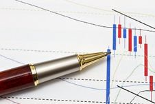 Background Of Business Graph Royalty Free Stock Image