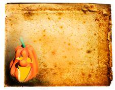 Free Pumpkin On Old Antique Vintage Paper Background Stock Photo - 16435750
