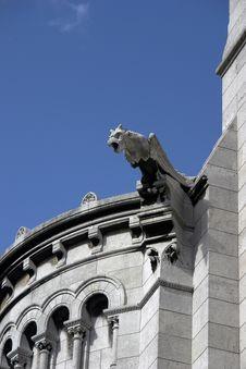 Free Gargoyle On Basilica Of The Sacre Coeur Royalty Free Stock Photos - 16435938