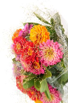Free Bouquet Flowers, On A Mirror. Royalty Free Stock Photo - 16436055