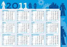 Free Boy Blue Calendar With Robot Stock Photos - 16436083