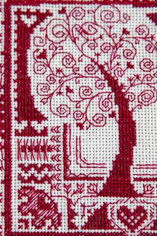 Fancywork Red Tree Of Love Stock Photos