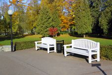 Free Park Benches Stock Photography - 16436602
