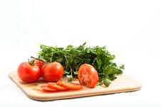 Free Tomato With Parsely Stock Image - 16436761