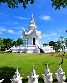 Pavilion Of Wat Rong Khun Temple Royalty Free Stock Images