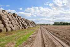 Free Haystacks Bales In Countryside Stock Photos - 16436903