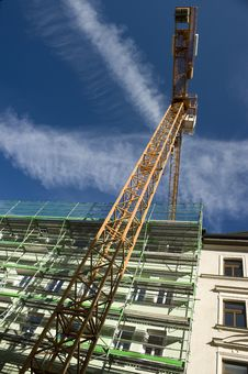 Hoisting Crane On The Project Site Royalty Free Stock Image
