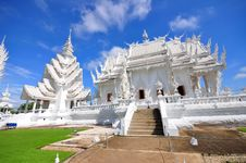 Free Main Chapel Of Wat Rong Khun Temple Royalty Free Stock Photo - 16436945